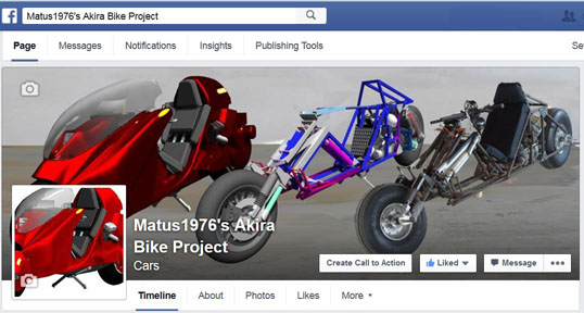Matus1976's Akira Bike Project Facebook page